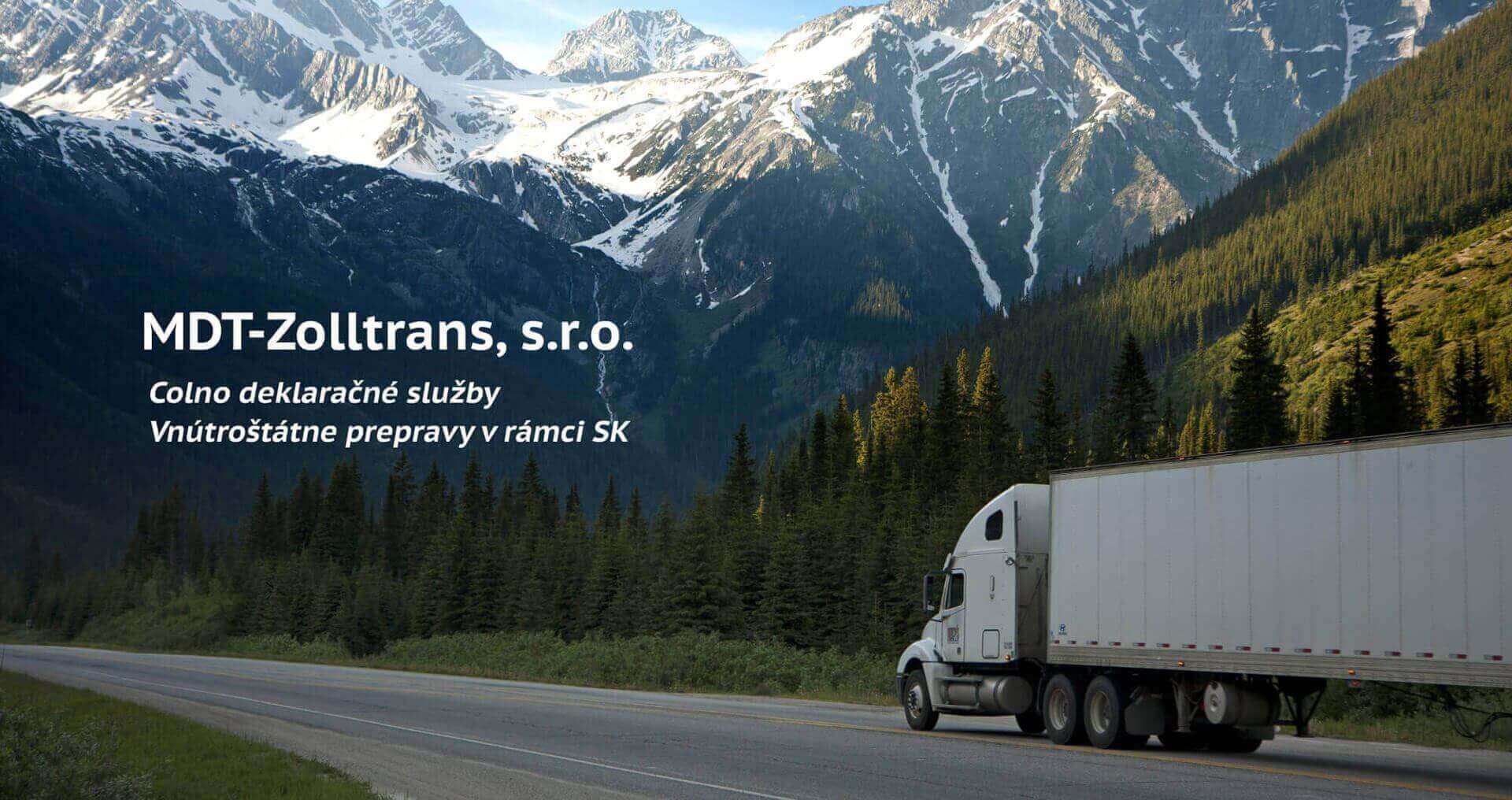 kamión v horách